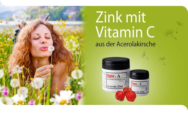 Zink mit Vitamin C aus der Acerolakirsche