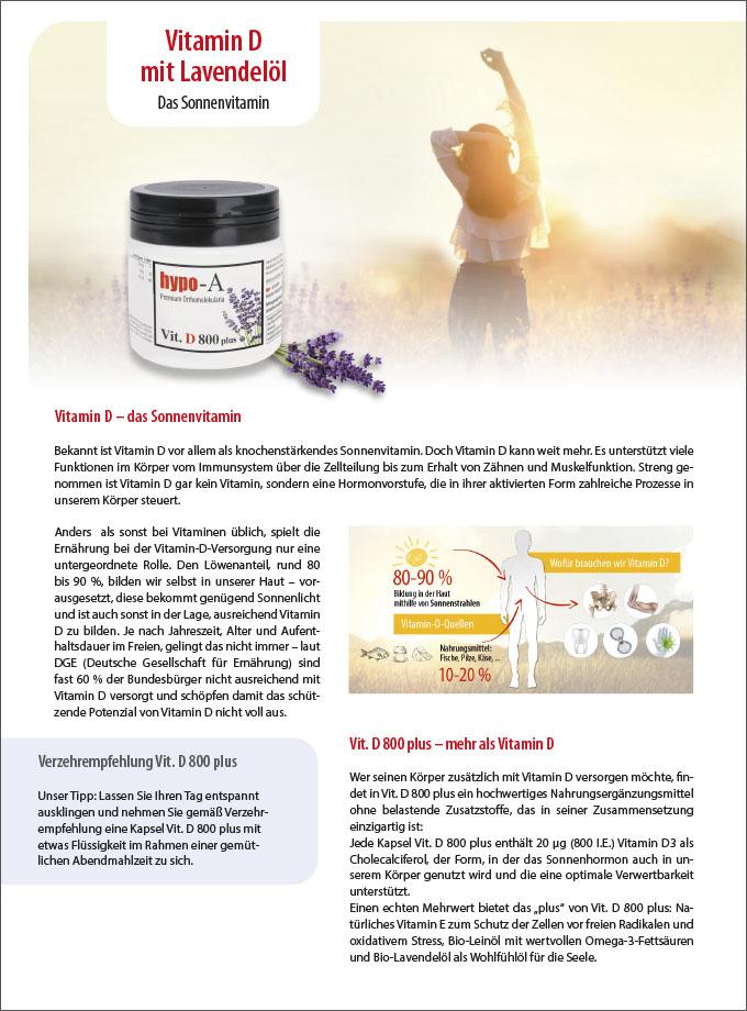 Vitamin D mit Lavendelöl