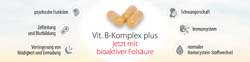 Vit. B-Komplex plus bioaktive Folsäure